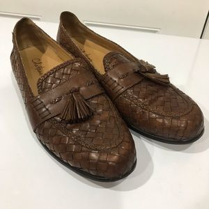 Cole Haan Leather Woven Tassel Loafers Shoes Sz 12